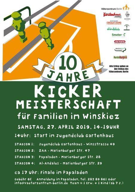 10. Kiez-Kickerturnier @ verschiedene / siehe Plakat